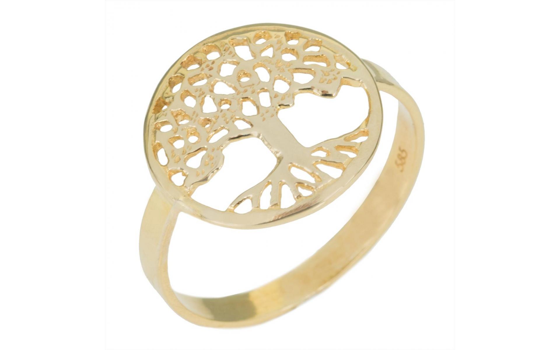 Gold Tree Of Life Ring Samourakis Jewelry